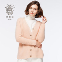 Women's Cashmere V Neck Cardigan