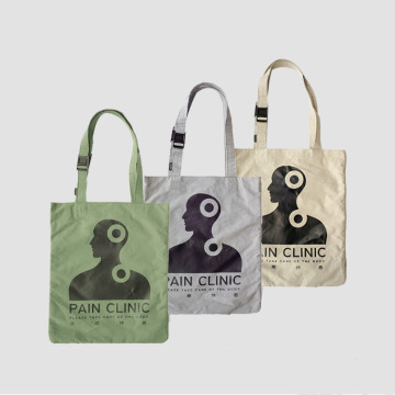 cotton canvas tote shopping bag