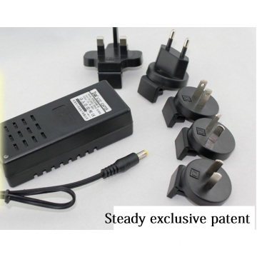 Desktop Type Power Adapter Changeable plug 12VDC 1A