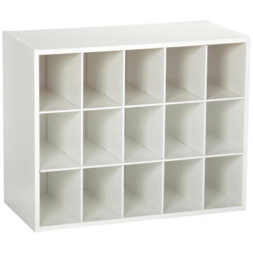 Living Room White wood shoe organizer box Shoe cabinet