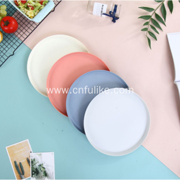 Bamboo Round Plates Plastic Plate Wholesale