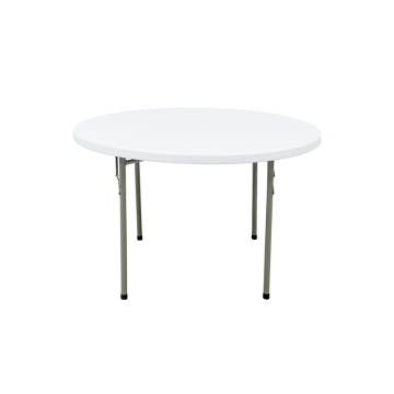 4ft round folding plastic outdoor table