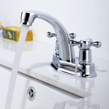Double Handle Bathroom Basin Mixer Faucet