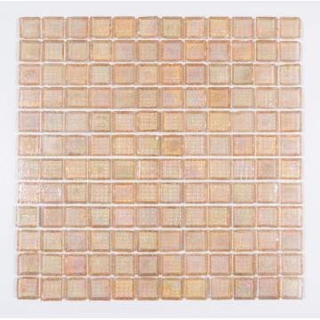 pink edge chipping honey berry glass mosaic