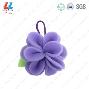 Purple flower little bath sponge