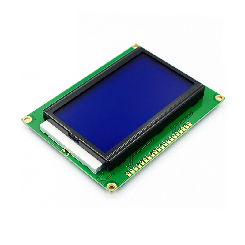 12864 128x64 Dots Graphic Green/Blue Color Backlight LCD Display Module for arduino raspberry pi