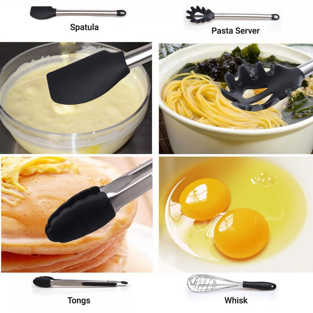 11PCS Nonstick Silicone Kitchen Cooking Utensil Set