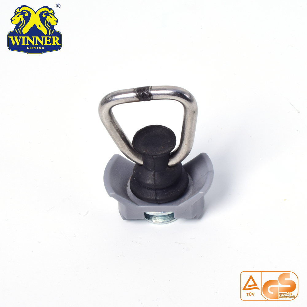 Single Stud Fitting With Stainless Steel D Ring For Cargo Control