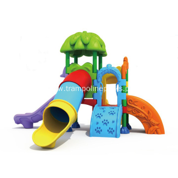 Outdoor Playground with Climbing and Slides