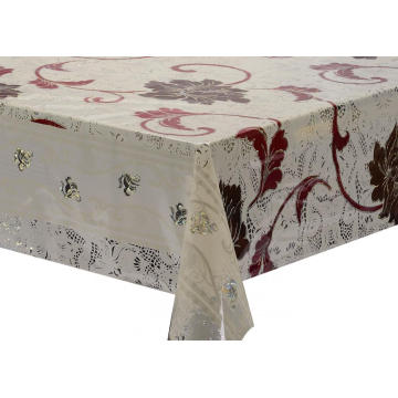 Transfer scroll  Printing Tablecloth with Silver/Gold