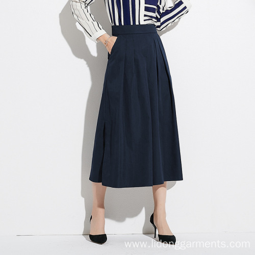 Ladies Loose A-line Long Formal Office Skirts