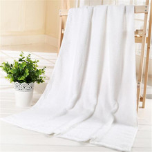 white hotel microfiber bath towel