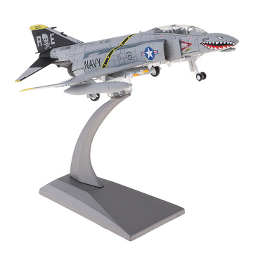 1/100 Die Cast American F-4 Fighter Aircraft Plane Toys W/ Metal Display Stand
