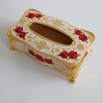 European Style Carved Tissue Box