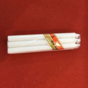 6PCS Polybag 55G Large White Stick Candle