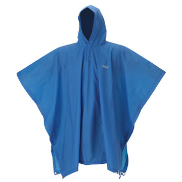 Women Blue PVC Waterproof Poncho