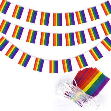 High Quality Polyester String Rainbow Bunting Flag