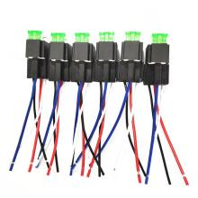 6 Set Auto Fused On/Off Relays DC12V 30A 4 Pin/6 Pin Electronic Relay Car Automotive Relay with Insurance Film
