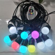 12V G45 RGB+WW 15 lights string