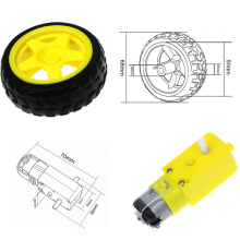 TT Motor Smart Car Robot Gear Motor for arduino Diy Kit Wheels Smart Car Chassis Motor Robot Remote Control Car DC Gear Motor
