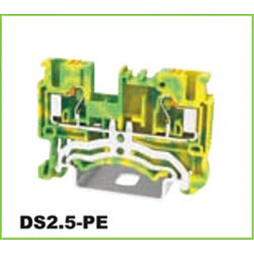 Ground Push-in DIN Rail Terminal Block Connector