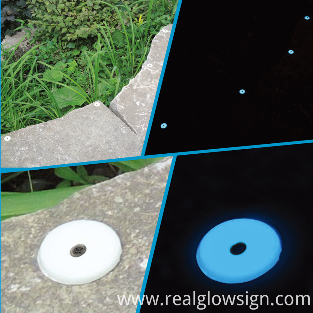 PHOTOLUMINESCENT DISC sky blue application