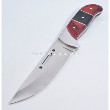Climbing Knife Wooden Handle Hunting Knife Bowie Knife