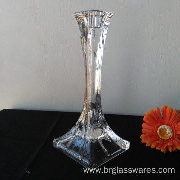 Square Large Crystal Glass Candle Holder