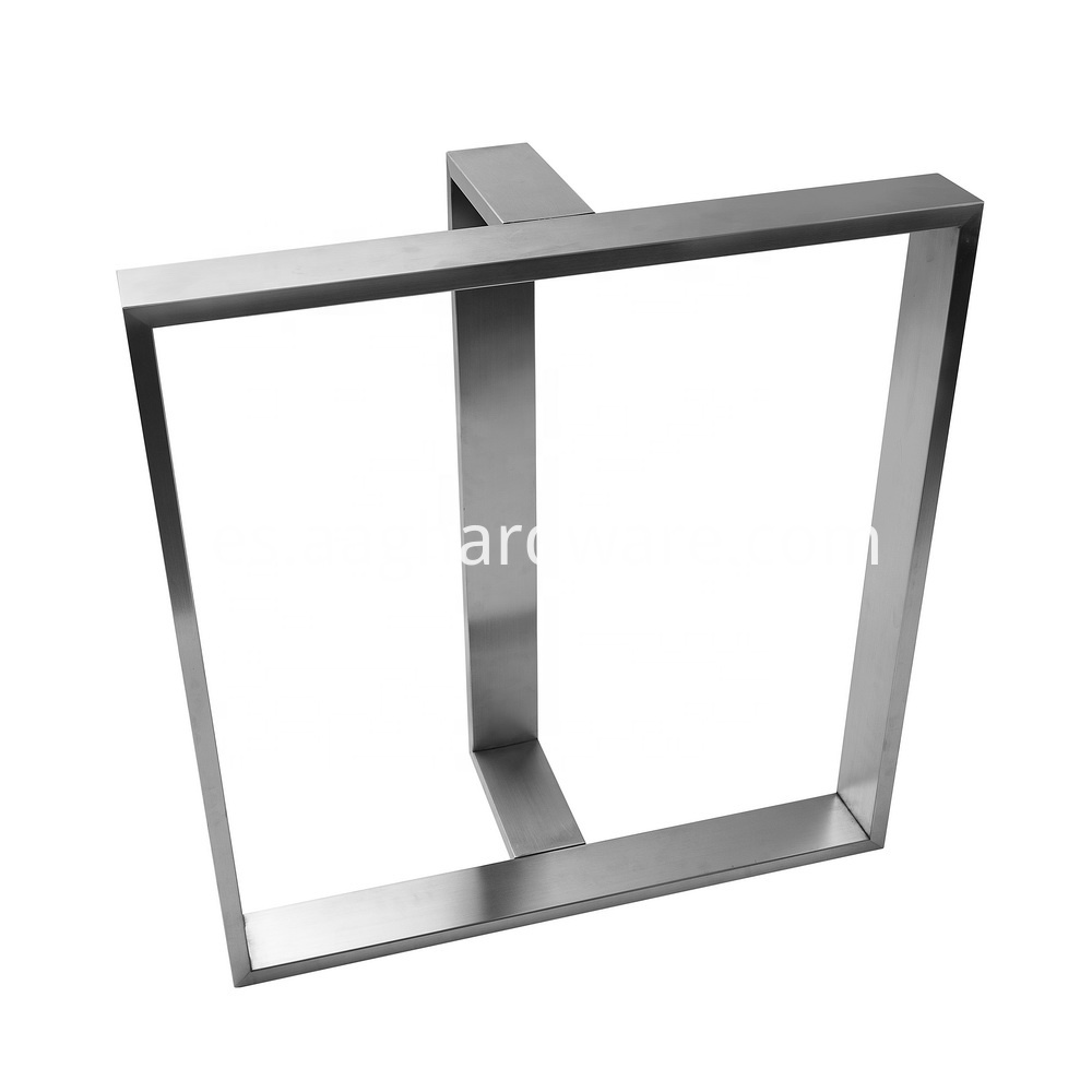Stainless Steel Table Legs Modern T Shaped 4