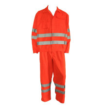 Orange Hi Vis Fireproof Work Suit