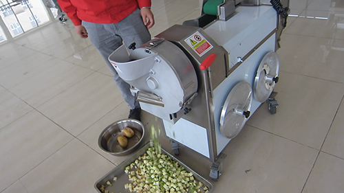 Vegetables cutting machine cutting process