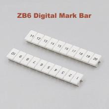10pcs ZB6 Digital marker strip Din Rail Terminal Block UK5N UDK4 UKK5 UK5-TWIN bornier Mark bar morsettiera terminals label ZB-6
