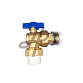 Hot forging brass angle ball valve with PPR union
