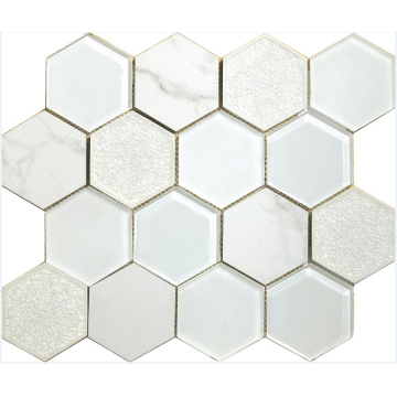 imitation marble hexagon mosaic