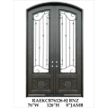 Glass front doors with wrought iron