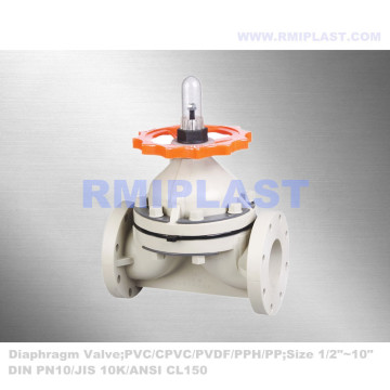 Acid Resist CPVC Diaphragm Valve