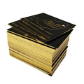 Print thick black gold edge luxury business card