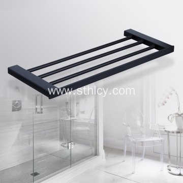 304 Stainless Steel Thickening Black Towel Rack Bathroom
