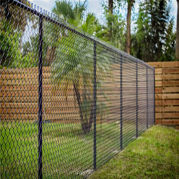 Black used chain link fences for sale factory
