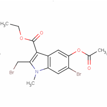 Ethyl 5-Acetoxy-6-Bromo-2-(Bromomethyl)-1-Methylindole-3-Carboxylate