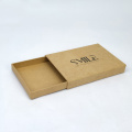 Brown kraft sliding gift drawer box packaging custom