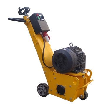 Electric concrete scarifier with 90 carbide blades