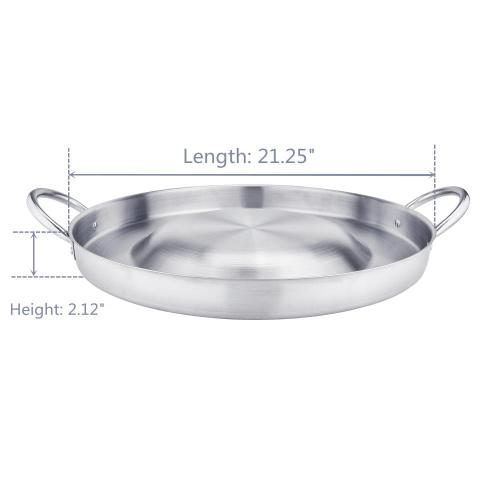 "21.25"" Heavy Duty Stainless Steel Convex Comal"