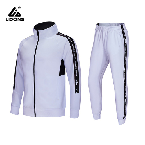 Women's Slim Fit Stretch Jogging Suit White