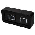 Metal Round Side Box Flip Table Clock