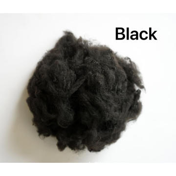 Black 3DX51MM Recycled 100% Polyester Staple Fiber