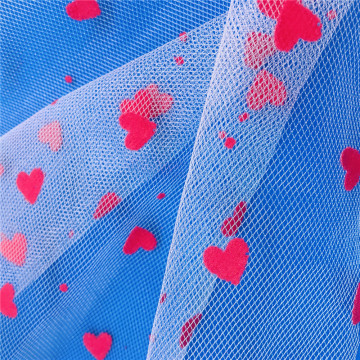 Fancy Design Heart DOT Flocking for Dress