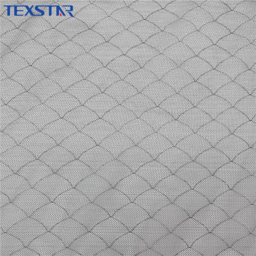 Silver Shiny Tulle Metal Mesh Fabric for Clothing