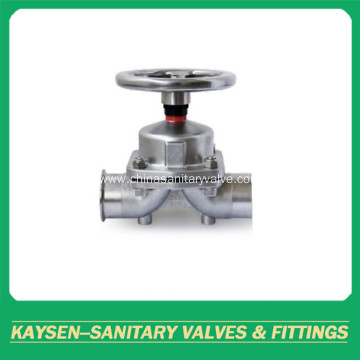 Hygienic diaphragm valves handwheel weld and clamp