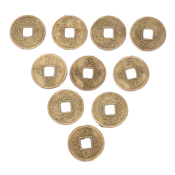 100PCS/lot Lucky Coins Feng Shui Chinese Oriental Emperor Ancient Money Coin Luck Fortune Wealth